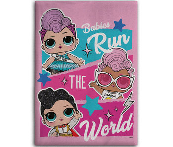 LOL Surprise! Fleeceplaid Run the World 100 x 140 cm