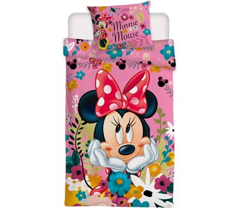 Disney Minnie Mouse Bettbezug Blüten 140 x 200 cm - Polyester