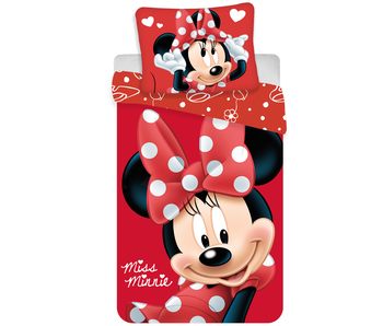 Disney Minnie Mouse Dekbedovertrek Big Red 140 x 200 cm