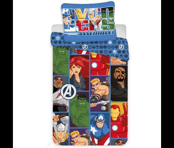 Marvel Avengers Dekbedovertrek Cartoon 140 x 200 cm