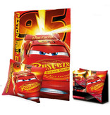 Disney Cars Piston Cup  - Set  Plaid + Kussen in cadeauverpakking - Rood