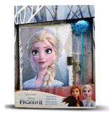 Disney Frozen Journal avec paillettes - 22 x 27,5 x 5 cm - stylo compris