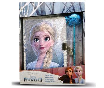 Disney Frozen Tagebuch mit Pailletten - 28 cm