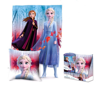 Disney Frozen Set  Plaid + Kussen Forest