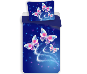 Animal Pictures duvet cover butterfly polyester 140x200 70x90 cm