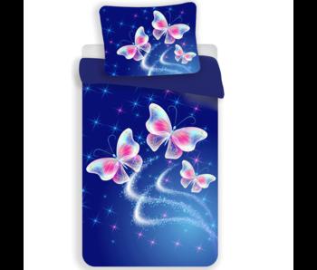 Animal Pictures housse de couette papillon polyester 140x200 70x90 cm
