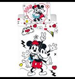 Disney Minnie Mouse Retro Herz Bettbezug - Einzel - 140 x 200 cm - Multi