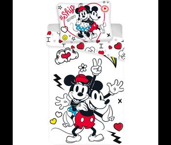 Disney Minnie Mouse Enveloppe de couette Retro Heart 140 x 200 cm
