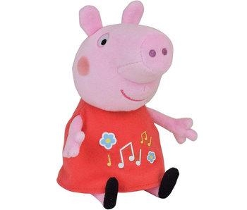 Peppa Pig Knuffel met muzikale buik - 17 cm