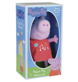 Peppa Pig Cuddle with musical belly - 17 cm - Pink