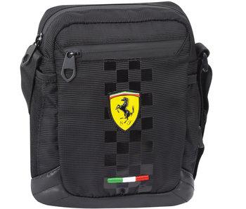 Ferrari Umhängetasche Schwarz 20 cm