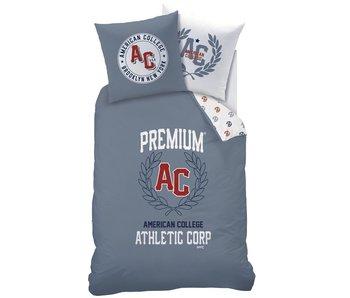 American College Dekbedovertrek Athletic 140x200 + 63x63cm