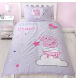 Peppa Pig Sleep - Bettbezug - Einzel - 135 x 200 cm - Lila
