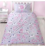 Peppa Pig Sleep - Dekbedovertrek - Eenpersoons - 135 x 200 cm - Paars