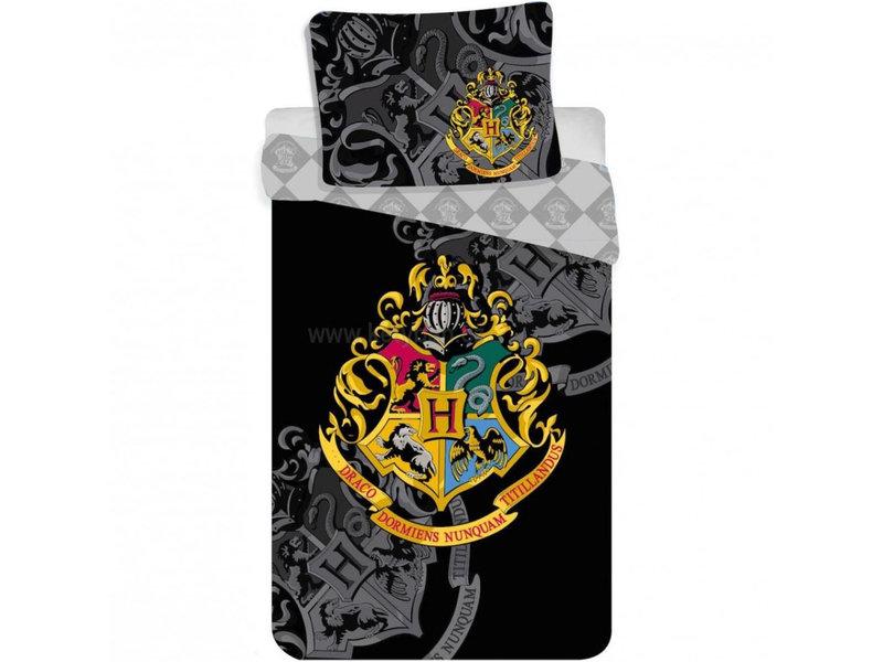 Harry Potter Crest Housse de couette - Simple - 140 x 200 cm - Coton