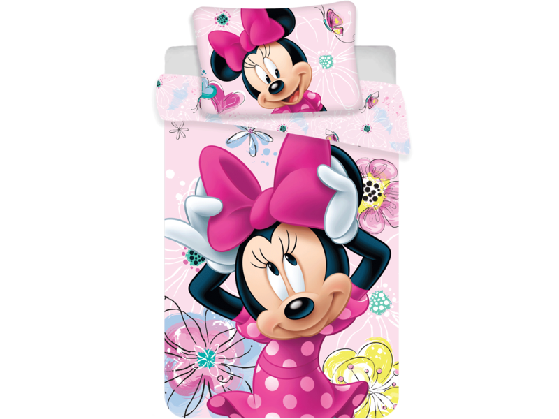 Disney Minnie Mouse BABY Dekbedovertrek - 100 x 135 cm - Katoen