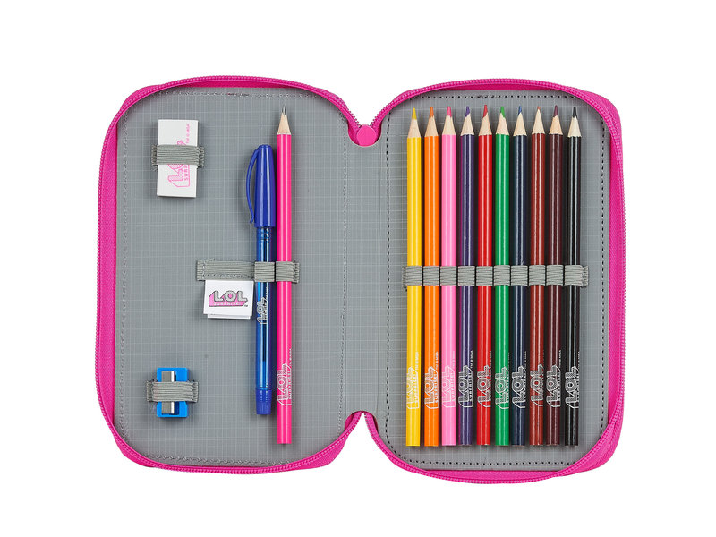 L.O.L. Surprise! Together filled pencil case - 28 pieces - Pink