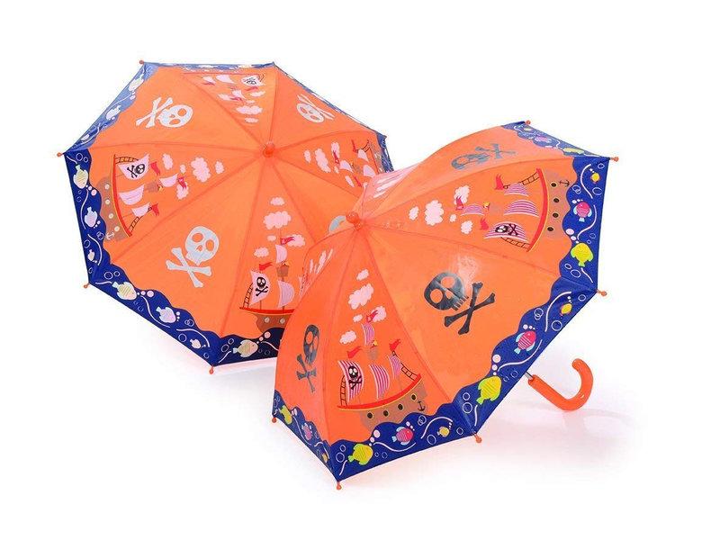 Floss & Rock Paraplu Piraten - Verandert van kleur!