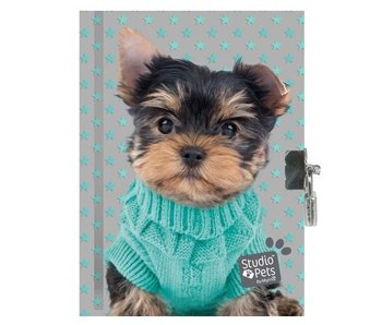 Studio Pets Warm Puppy Diary with lock 15 x 20 cm