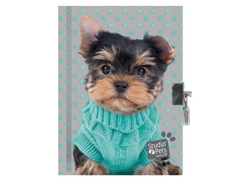 Studio Pets Diary Warm Puppy - 15 x 20 cm - Including clasp