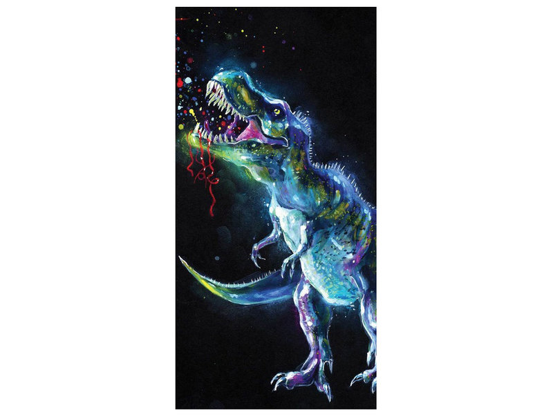 Animal Pictures Beach Towel Dinosaur - 70 x 140 cm - Multi