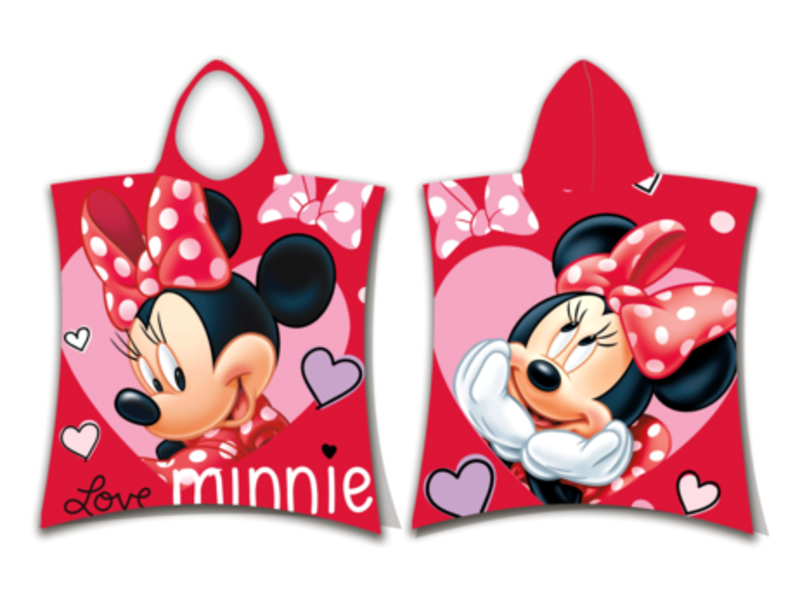 Disney Minnie Mouse Poncho Love - 50 x 115 cm - Baumwolle