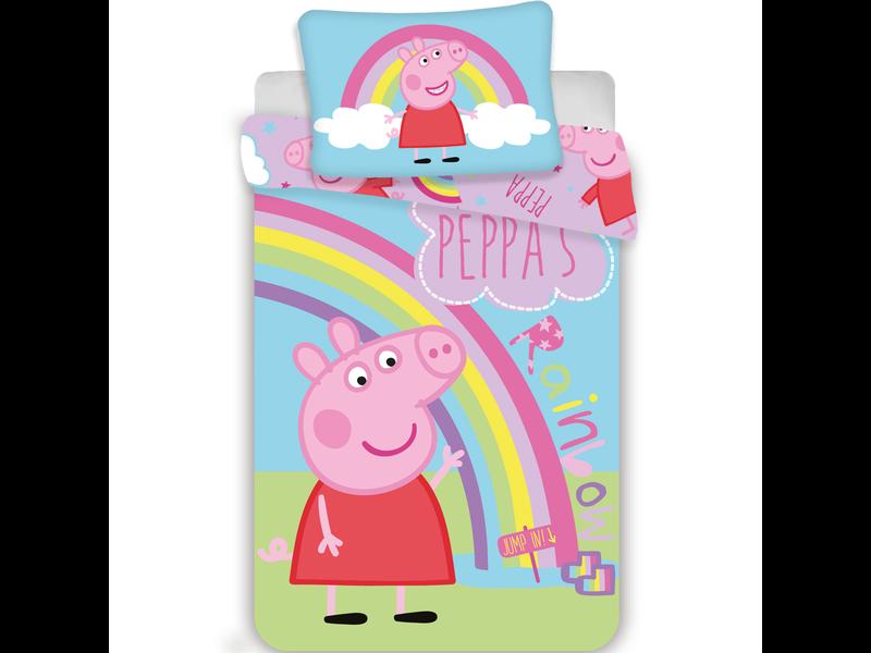 Peppa Pig - Baby dekbedovertrek 100 x 135 cm - Multi