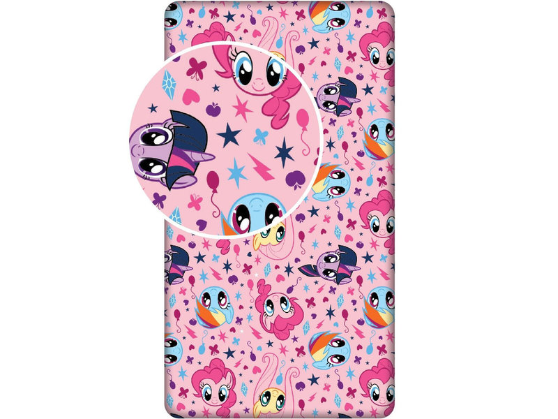 My Little Pony - Hoeslaken - 90 x 200 - Eenpersoons - Roze