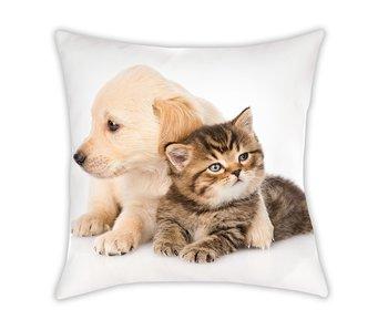 Animal Pictures Sierkussen Cat & Dog 40 x 40 cm