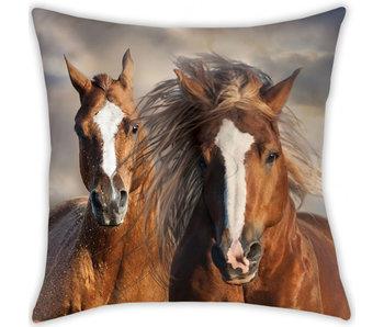 Animal Pictures Sierkussen Paarden 40 x 40 cm