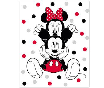 Disney Minnie Mouse Couverture polaire Oreilles 100 x 140 cm