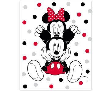 Disney Minnie Mouse Fleecedecke Ohren 100 x 140 cm