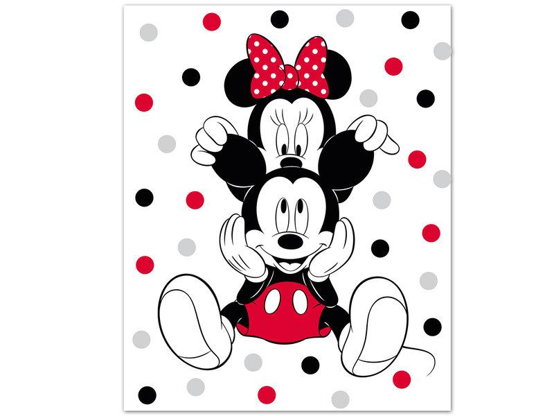 Disney Minnie Mouse Fleecedecke Ohren - 100 x 140 cm - Multi