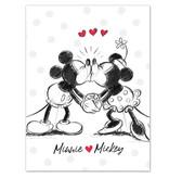 Disney Minnie Mouse Fleecedecke Cartoon - 100 x 140 cm - Mehrfarbig