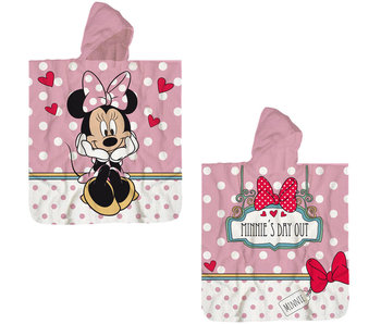 Disney Minnie Mouse Poncho Baumwolle 60 x 120 cm