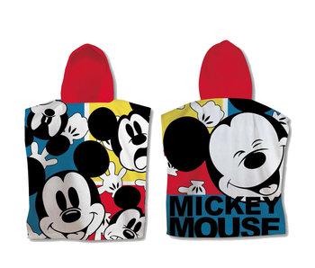 Disney Mickey Mouse Poncho en coton 60 x 120 cm
