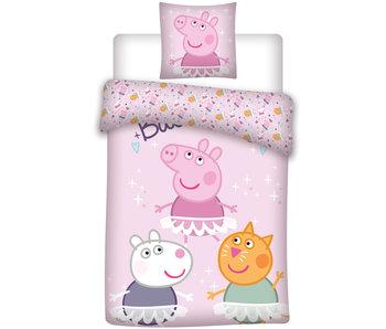 Peppa Pig Housse de couette 140 x 200 cm
