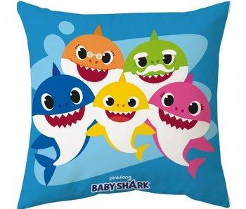 Baby Shark Coussin Famille 40x40 cm