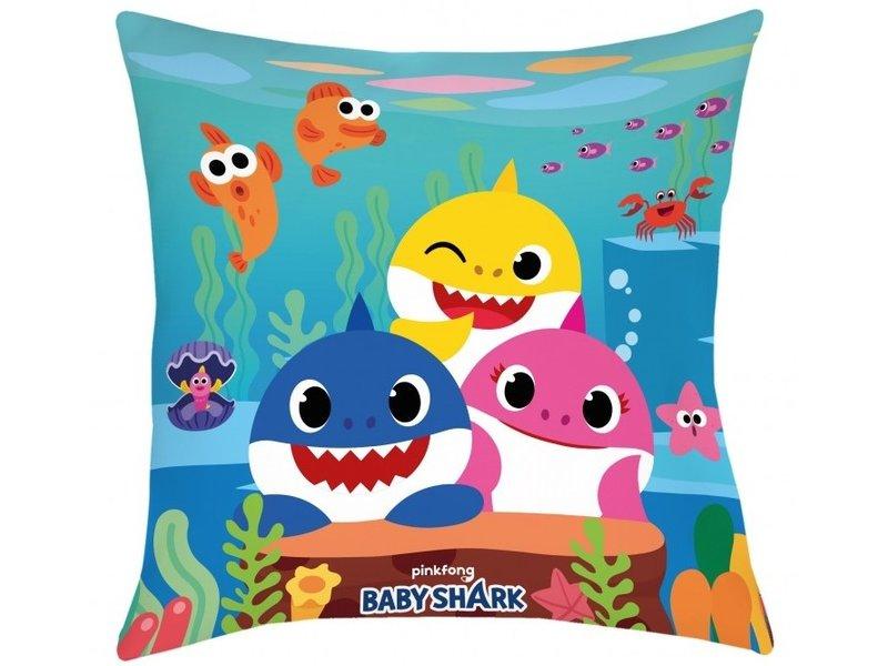 Baby Shark Sierkussen - 40 x 40 cm - Multi