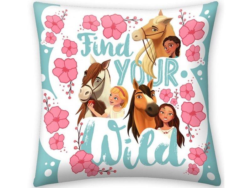 Spirit Find Your Wild Cushion - 40 x 40 cm - Multi
