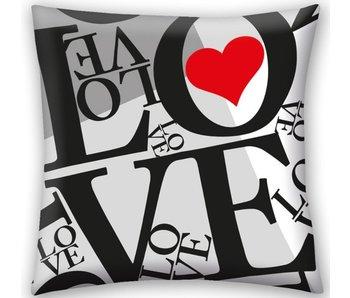 Valentines Sierkussen LOVE 40x40 cm