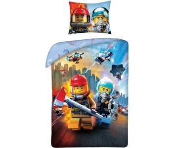 Lego Stadt Bettbezug 140 x 200 cm