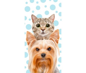 Cat & Dog Beach towel 140x70cm