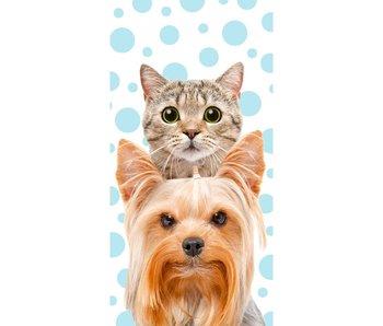 Cat & Dog Strandtuch 140x70cm