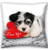 Valentines Sweet Dog - Cushion - 40 x 40 cm - Multi