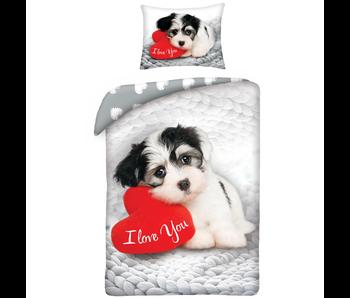 Valentines Sweet Dog Dekbedovertrek 140x200 cm