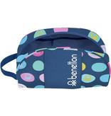 Benetton Polka Dots - Beauty Case - 26 x 16 x 9 cm - Blauw