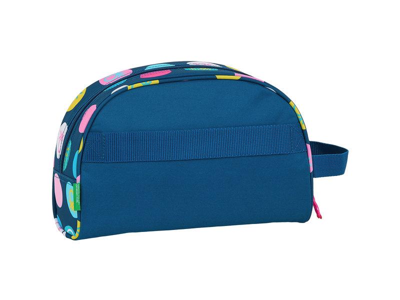 Benetton Polka Dots - Beauty-Tasche - 26 x 16 x 9 cm - Blau