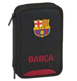 FC Barcelona Gevuld Etui - 13 x 21 x 4 cm - Zwart