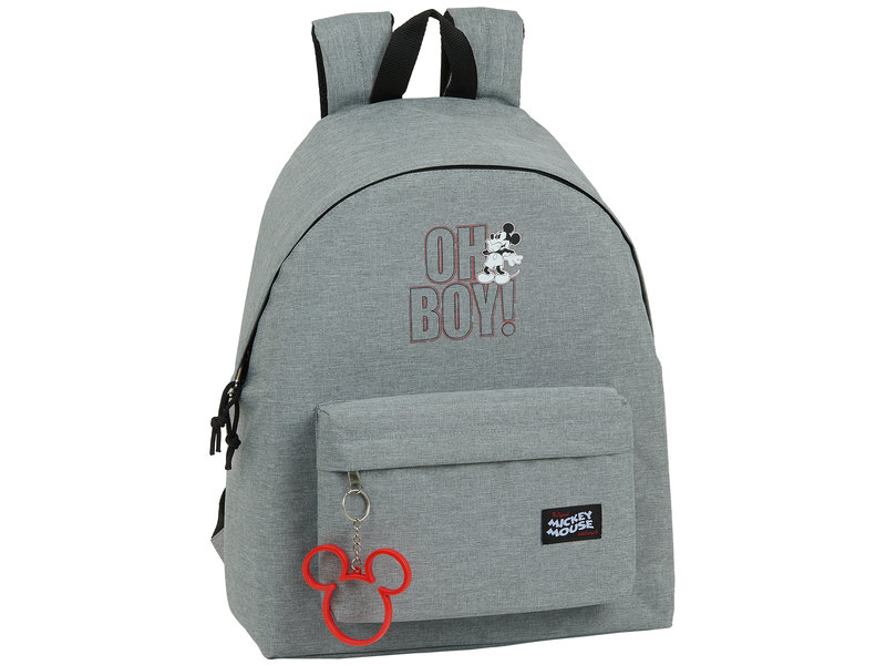 Disney Mickey Mouse Oh Boy Backpack - 42 x 33 x 15 cm - Gray